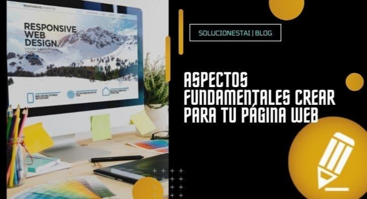 Aspectos fundamentales crear para tu página web